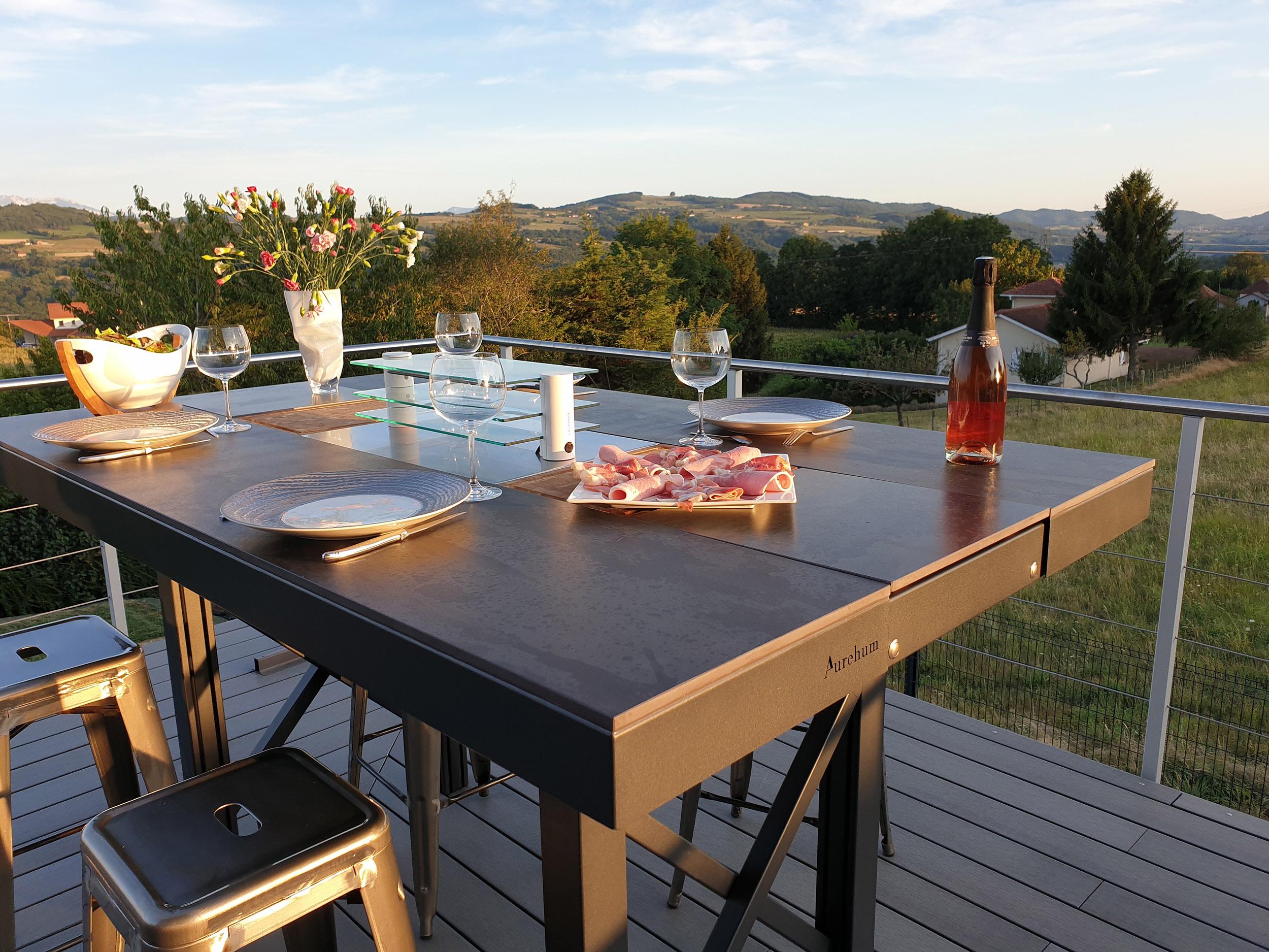 table d'extérieur de luxe