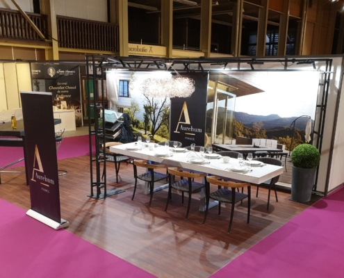 exposition de la marque Aurehum au salon tasting toquicimes en octobre 2019