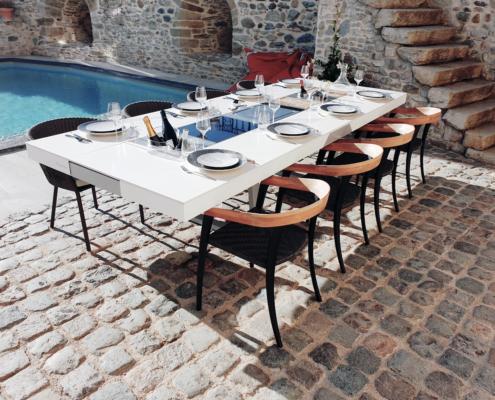 table extérieure design et sur mesure