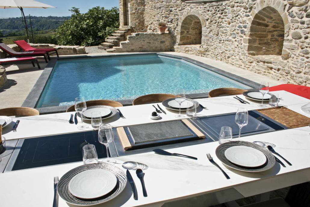 appareils et accessoires intégrable sur table extérieur
