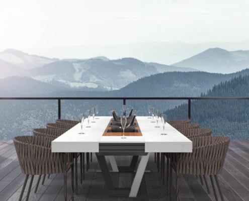 table d'extérieur haut de gamme