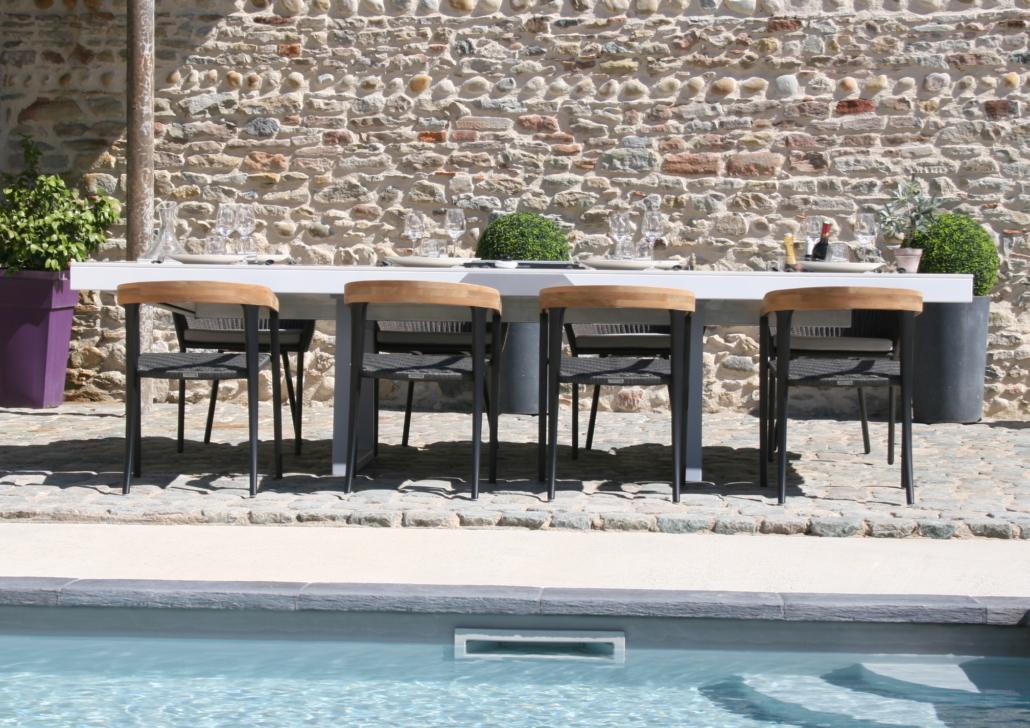 table extérieur avec chaise en teck JIV Royal Botania